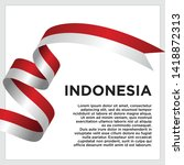 Waving Flag Of Indonesia On...