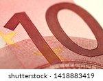 fragment of ten euro bills...   Shutterstock . vector #1418883419