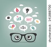 business thoughts | Shutterstock .eps vector #141888700
