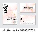 wedding rose gold  invitations... | Shutterstock .eps vector #1418890709