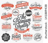set of vintage premium quality... | Shutterstock .eps vector #141889438