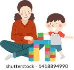 illustration of a kid boy... | Shutterstock .eps vector #1418894990