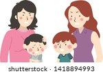 illustration of two kid boys... | Shutterstock .eps vector #1418894993
