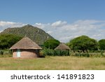 Traditional Round Mud House In...