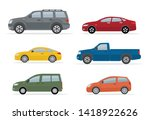 collection of different cars.... | Shutterstock .eps vector #1418922626