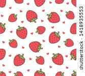 vector cute cartoon heart and...   Shutterstock .eps vector #1418935553