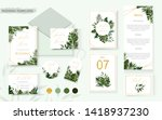 wedding tropic exotic summer... | Shutterstock .eps vector #1418937230