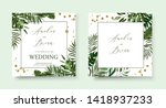 wedding tropic exotic summer... | Shutterstock .eps vector #1418937233
