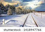 Winter Snow Forest Railway...