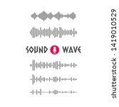 set of soundwave line art... | Shutterstock .eps vector #1419010529