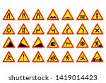 warning sign and symbols in one ... | Shutterstock .eps vector #1419014423