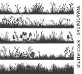 grass silhouette design ... | Shutterstock .eps vector #1419014906