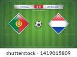 portugal vs netherlands... | Shutterstock .eps vector #1419015809