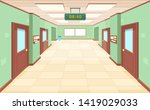 empty corridor with closed... | Shutterstock .eps vector #1419029033