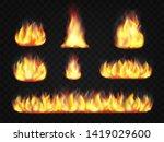 fire flame effect. set of... | Shutterstock .eps vector #1419029600