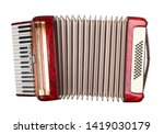 Retro accordion isolated on white background