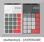 calculator ui design template...