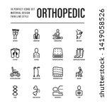 orthopedic thin line icons set. ... | Shutterstock .eps vector #1419058526