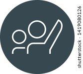 volunteer with raised hand... | Shutterstock .eps vector #1419080126