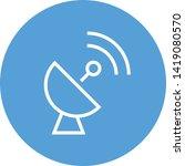 satellite dish antenna vector... | Shutterstock .eps vector #1419080570