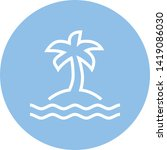 island palm tree outline icon | Shutterstock .eps vector #1419086030
