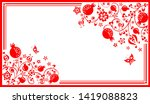 greeting horizontal card with...   Shutterstock . vector #1419088823