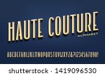 a tall condensed font with... | Shutterstock .eps vector #1419096530
