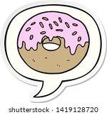 cartoon donut with speech...   Shutterstock .eps vector #1419128720