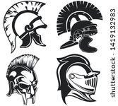 greek and roman warriors...   Shutterstock .eps vector #1419132983