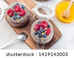 layered chocolate and peanut...   Shutterstock . vector #1419143003