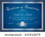 dark blue certificate   diploma ... | Shutterstock .eps vector #141915079