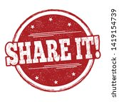 share it sign or stamp on white ... | Shutterstock .eps vector #1419154739