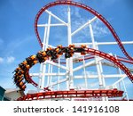 thrills for riders of the... | Shutterstock . vector #141916108