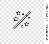magic wand icon from magic...   Shutterstock .eps vector #1419167060