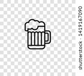 pint icon from  collection for... | Shutterstock .eps vector #1419167090