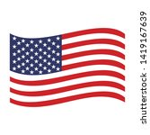the united states flag icon... | Shutterstock .eps vector #1419167639