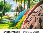 tahiti vacation background... | Shutterstock . vector #1419179006