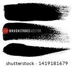 grunge brush painted spots.... | Shutterstock .eps vector #1419181679