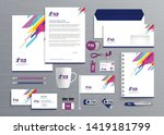 corporate business  identity... | Shutterstock .eps vector #1419181799