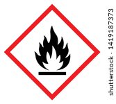 flammable symbol sign  vector... | Shutterstock .eps vector #1419187373