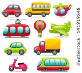 cartoon transport set | Shutterstock .eps vector #141919348