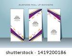 roll up banner design template  ... | Shutterstock .eps vector #1419200186