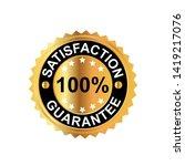 vector 100  satisfaction... | Shutterstock .eps vector #1419217076