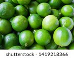 a pile of green limes pattern... | Shutterstock . vector #1419218366