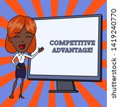 handwriting text competitive... | Shutterstock . vector #1419240770