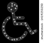 bright mesh disabled person... | Shutterstock .eps vector #1419253250