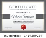 certificate template with clean ... | Shutterstock .eps vector #1419259289