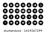 vector arrow buttons in round... | Shutterstock .eps vector #1419267299