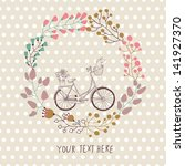 Cute Vintage Background With...