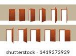 door opening motion sequence...   Shutterstock .eps vector #1419273929